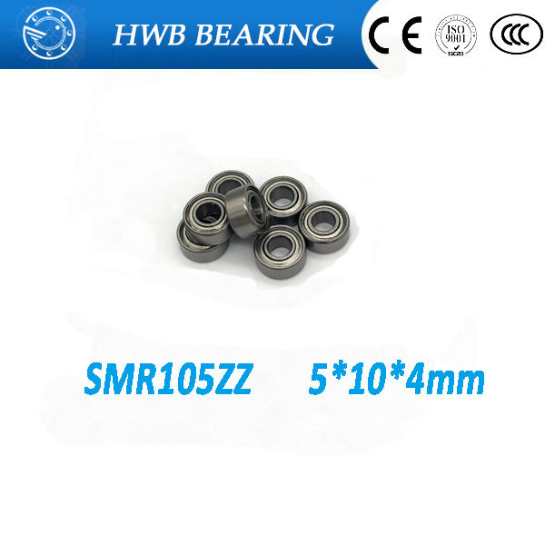 Free Shipping 4PCS SMR105 ZZ smr105 zz smr105z  5X10X4  Metal Shields  Bearing  ABEC-5 ABEC-7 Stainless Steel bearings SMR105-2Z free shipping 4x7x2 5 metal shields bearings abec 7 stainless steel smr74 zz