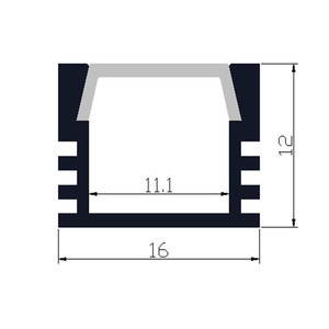 Image 2 - 40 m/lote, 20 piezas de 2m ,80 Perfil de aluminio led inch/pc para tira de 8 11mm, canal led para cinta 5050,5630,3528, pista de luz de barra led