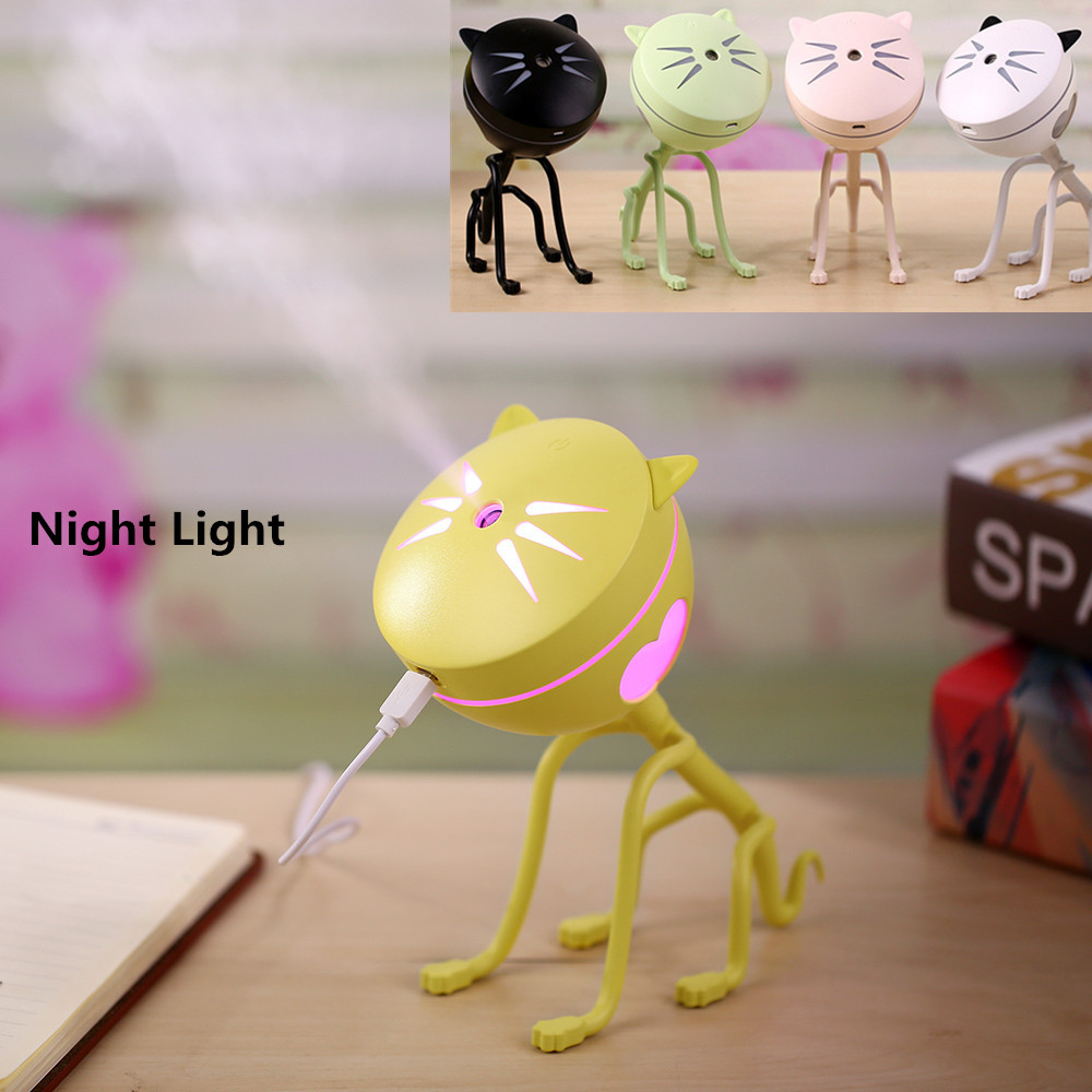 USB Ultrasonic Mini Air Humidifier Mist Maker for Office Home With Colorful Led Night Light Auto Power-Off Protection mini air conditional fan support humidifier with colorful night light usb rechargeable water mist fan portable for home office