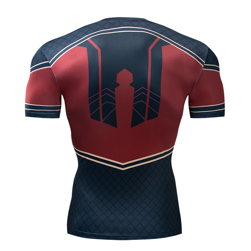 Spiderman 3D t shirts Men Compression Short Sleeve T shirts Superhero Quick Dry Tops Bodybuilding Fitness Tshirts Tees in T Shirts from Men 39 s Clothing