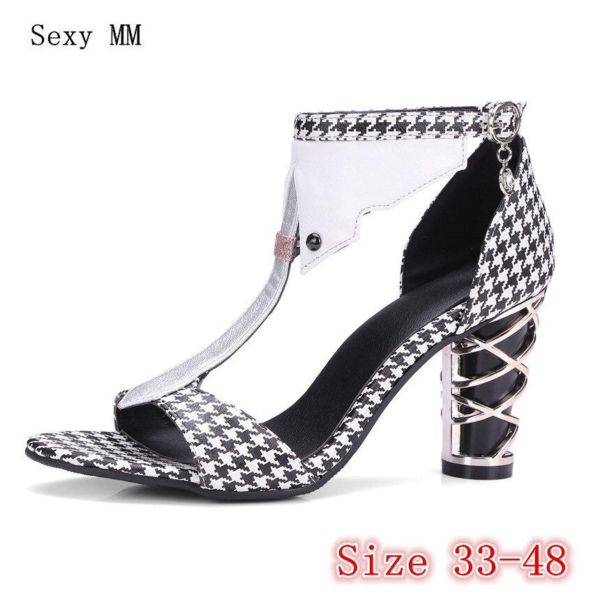 Summer High Heels Peep Toe Shoes Women Pumps High Heel Sandals Woman Gladiator Sandals Plus Size 33 - 40 41 42 43 44 45 46 47 48