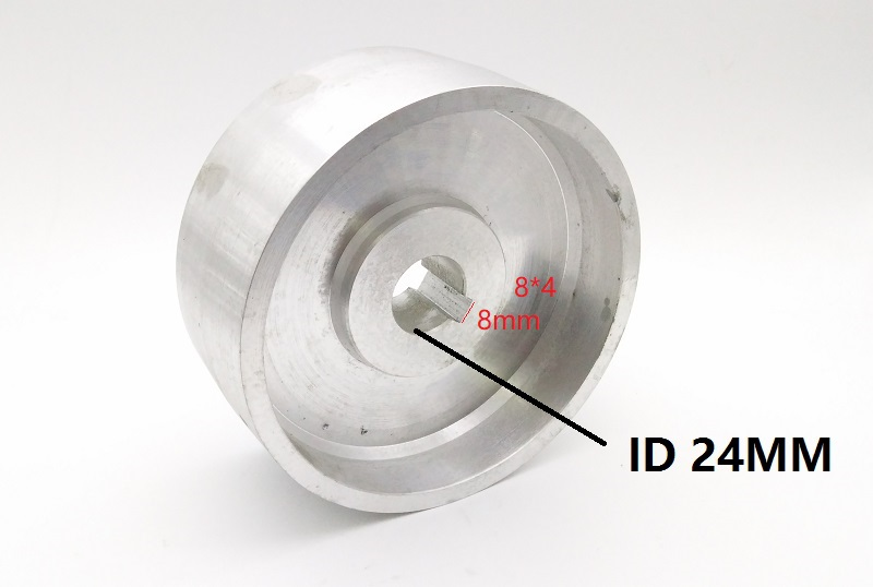 New 130*55*24mm Fully Aluminum Contact Wheel Active Wheel For Belt Machine With 8*4mm Keyway