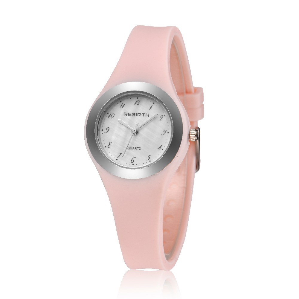 REBIRTH Women's Watch 2018 Top Brand Silicone Strap Ladies Sport Wristwatch Ladies Women Wrist Watches Relogio Femininos