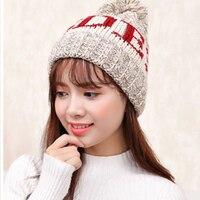 סתיו והחורף חדש קטיפה עבה סוודר פראי קוריאני לסרוג כובע הגנה על אוזן חמה כובע כובעי כובע גב'