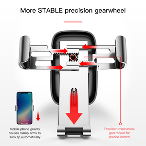 Image 3 - Baseus Car Phone Holder 360 Degree Rotation Car Air Vent Mount Universal Gravity Mobile Phone Holder For iPhone Car Holder