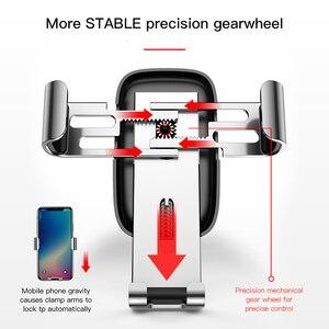 Image 3 - Baseus voiture support de téléphone 360 degrés Rotation voiture évent montage universel gravité support de téléphone Mobile pour iPhone support de voiture