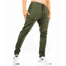 Pantalones de deporte de los hombres pantalones de Jogging gimnasio Mens  ropa deportiva con bolsillos corriendo af3d875982b4b