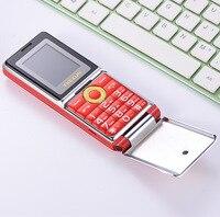 TKEXUN G6000 Flip Mobile Phone 1.8 Inch Dual SIM Quad Band GSM Flashlight SOS Quick Dial Big Russian keyboard Cell phones