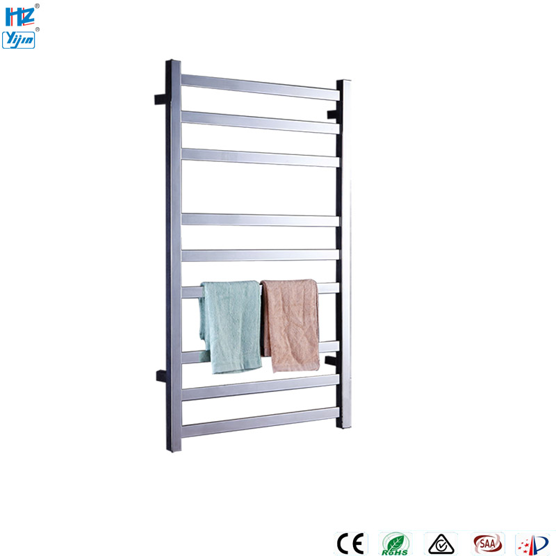 Yijin ARE HZ-918 Electric Heated Towel Rack Wall Mounted Style Towel Warmer Rails 304 Stainless Steel Towel Dryer Shelf for Bath шкаф настенный 19 6u schneider electric actassi wall mounted opb с поворотной рамой nsyopb6u4p