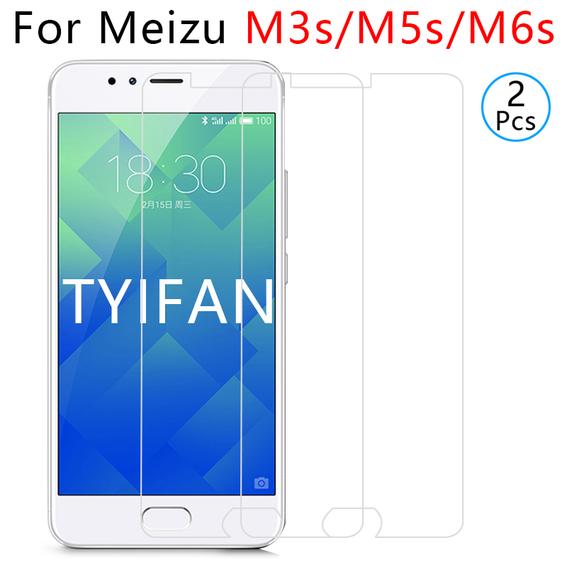 2pcs tempered glass for meizu m6s m5s m3s protective glas screen protector on maisie s6 s5 s3 safety m 3s 5s 6s 3 5 6 m3 m5 m6 s image