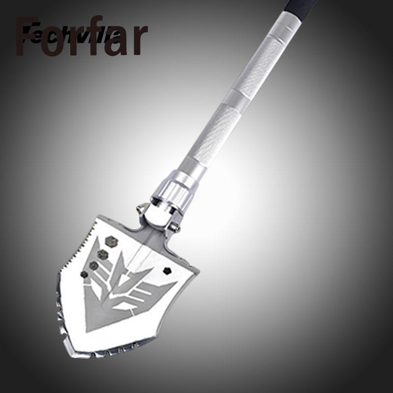 Forfar Multi-function Military Portable Folding Camping Shovel Survival Spade Dibble Pick Emergency Garden Outdoor Tool military type stainless steel folding shovel camping tool black size l