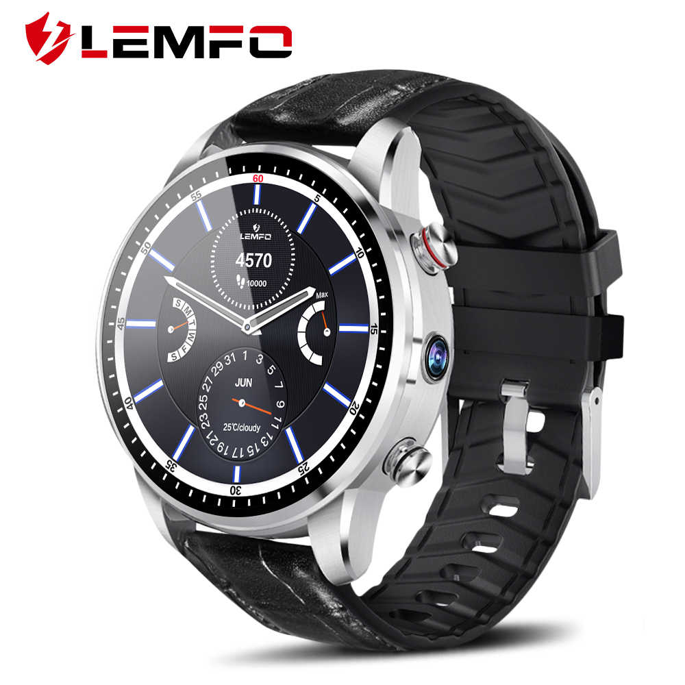LEMFO LEF3 Smart Watch Android 7.1 GPS Smartwatch Men LTE 4G Smart Watch Phone Heart Rate 1GB + 16GB Memory with 2MP Camera