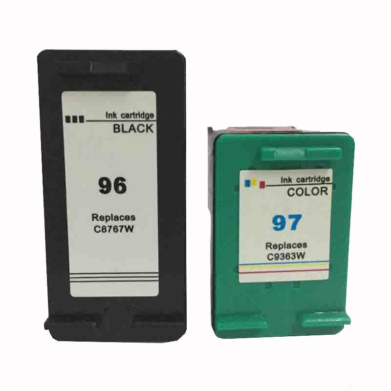 vilaxh 96 97 Refilled Ink Cartridge Replacement For HP Deskjet 5740 6540 6840 Phtosmart 2610 2710 8030 8150 8450 printer