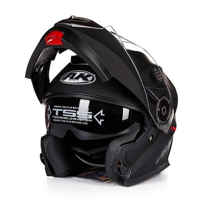 все цены на New Arrival With Inner Sun Visor Flip Up Modular Motorcycle Helmet capacete casco motorbike dual lens full face moto helmet