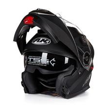 Новое поступление с козырек откидной модульный мотоциклетный шлем capacete каско мотоцикл с двумя объективами анфас мото-шлем