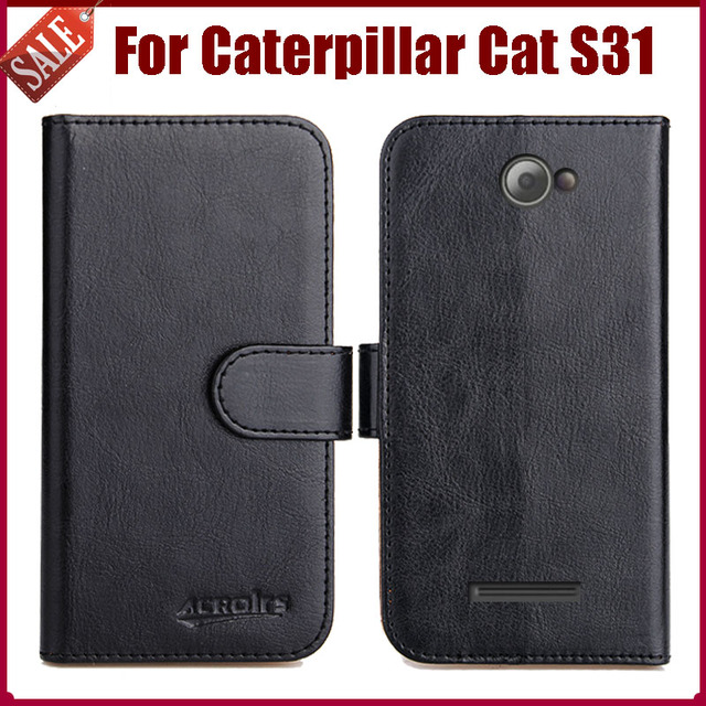 lowest price d13d2 749e3 US $4.59 8% OFF|Hot Sale! Caterpillar Cat S31 Case New Arrival 6 Colors  High Quality Flip Leather Protective Cover Phone Bag-in Flip Cases from ...