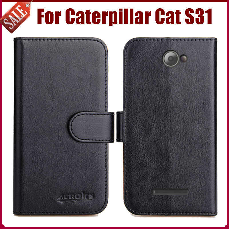 Hot Sale Caterpillar Cat S31 Case New Arrival 6 Colors High Quality Flip Leather Protective Cover Phone Bag