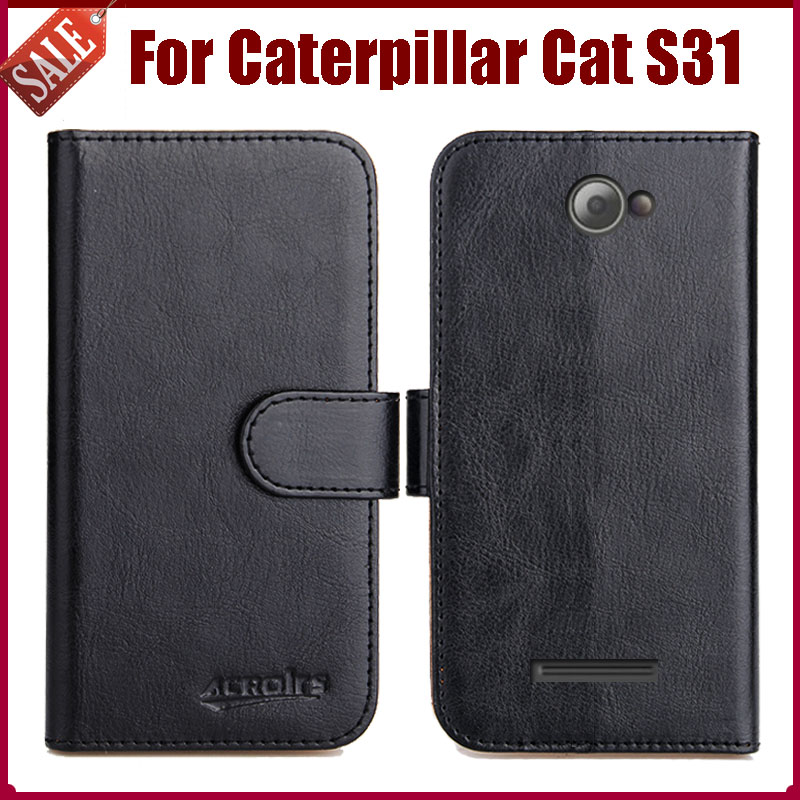 132ff6f42b Caterpillar Cat S31 Case New Arrival 6 Colors High Quality Flip Leather  Protective Cover Phone Bag