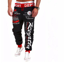 spring summer Leisure Pants riding sweatpants Joggers trousers  Black Red  American style Casual men's pants