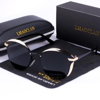 bd68dd4064 Gafas de sol polarizadas HD de lujo para mujer gafas de sol de moda de ojo  de gato de marca Vintage de diseñador de gafas de sol para mujer