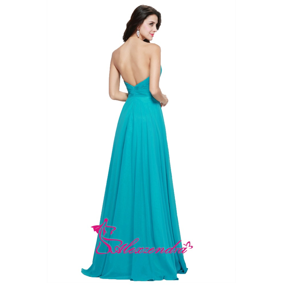 Alexzendra синие дешевые простые цветы длинные шифоновые платья невесты вечерние платья для свадьбы - 4