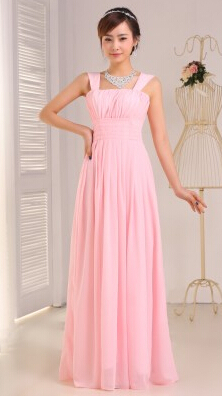 2016 Sleeveless Spaghetti Straps Pleated Chiffon   Bridesmaid     Dresses   Long Floor Length Custom Made Zip Back Party Prom   Dress