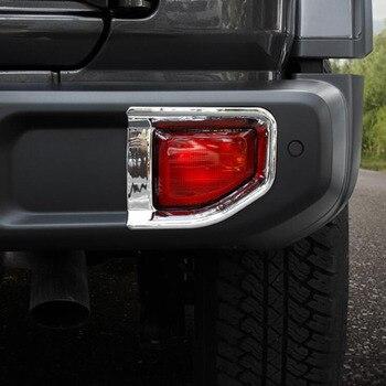 Задний бампер противотуманные фары противотуманная фара Наклейка декоративная отделка рамка для jeep JL wrangler внешние аксессуары >> BinXinNuo Store
