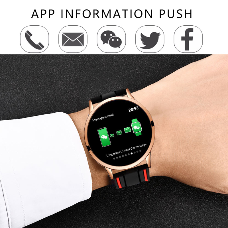 LIGE Smart Watch Women Sport smart Bracelet IP67 Waterproof Fitness Tracker LED Screen heart rate Monitor Pedometer Wristband in Smart Wristbands from Consumer Electronics