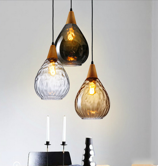 Nordic creative home lighting bar amber gray waterdrop glass nordic creative home lighting bar amber gray waterdrop glass pendant lamp study room bedroom personality glass pendant light in pendant lights from lights aloadofball Images