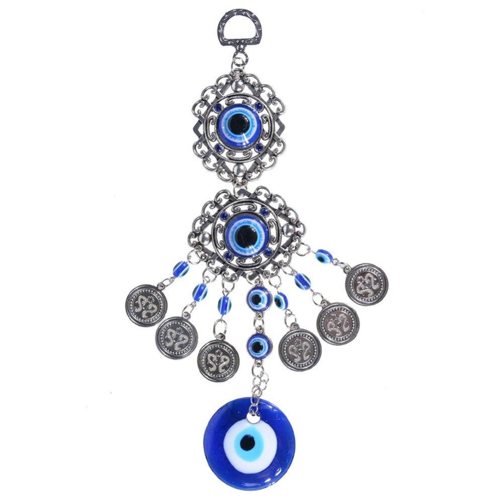 Blue Eye Wind Chimes Amulet Protection Turkish Evil Eye