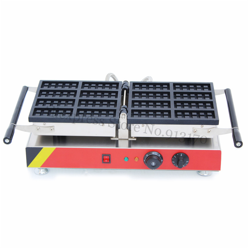 Rectangle Waffle Machine Nonstick Strip Waffle Baker Maker 8 pcs In One with Timer and Temperature Controller vibration type pneumatic sanding machine rectangle grinding machine sand vibration machine polishing machine 70x100mm