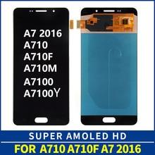 Oled para samsung galaxy a7 2016 a710 lcd a710fa 710f/ds a710fd a710m a710m/ds a710y/ds a7100 display lcd + digitador da tela de toque