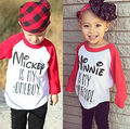 1-6T Children Unisex Boys Girls t shirt Minnie Mickey Cotton T-shirt Top Clothes Casual Long Sleeve Tees