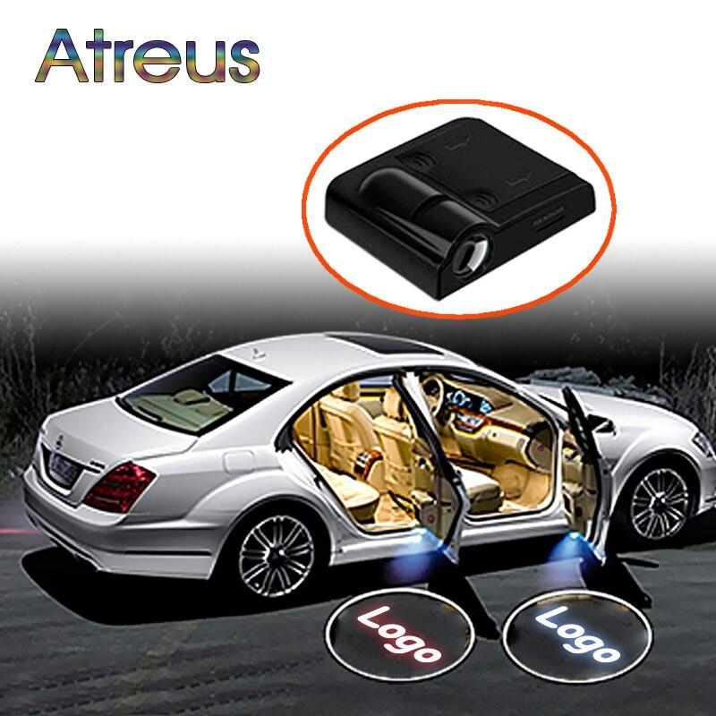 Atreus дверь автомобиля Добро пожаловать свет светодиодный лазерный логотип проектор для Renault megane 2 3 clio 4 Abarth Land Rover Jeep renegade wrangler