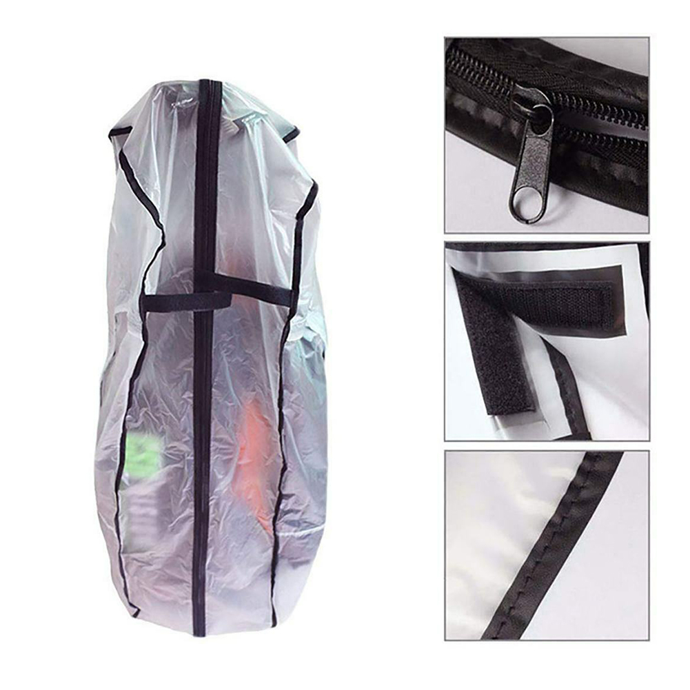 Waterproof Dustproof Rainproof Rod Protector Zipper Supplies Transparent Store PVC Bag Golf Rain Cover Antistatic Wear Resistant