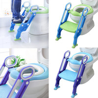 NEW design Unisex Baby Child Potty Toilet Trainer Seat Step Stool Ladder Adjustable Training Chair new year gift