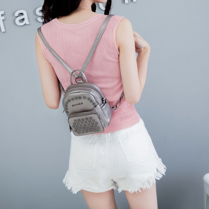 Nevenka Fashion Women Bag School Lady Backpack PU Leather Bags Student Shoulder Bag Casual Female Backpacks Softback Bags Sac05