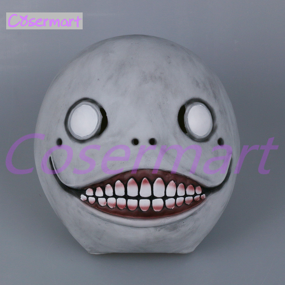 Cos Hot Game NieR Automata Masks Cosplay Emil Mask Helmet 11 Latex Halloween Party (8)
