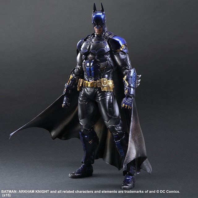 XINDUPLAN DC Comics Play Arts Kai Justice League Batman Arkham Knight Limited Edition Blue Action Figure Toys 28cm Model 0282 xinduplan dc comics play arts kai justice league batman reloading dawn justice action figure toys 25cm collection model 0637
