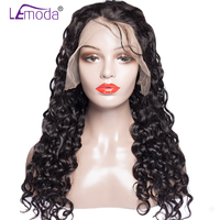 Water Wave Full Lace Wigs For Black Women Malaysian Remy Human Hair Wigs Pre Plucked With Baby Hair 200% Density Lemoda Hair Wig