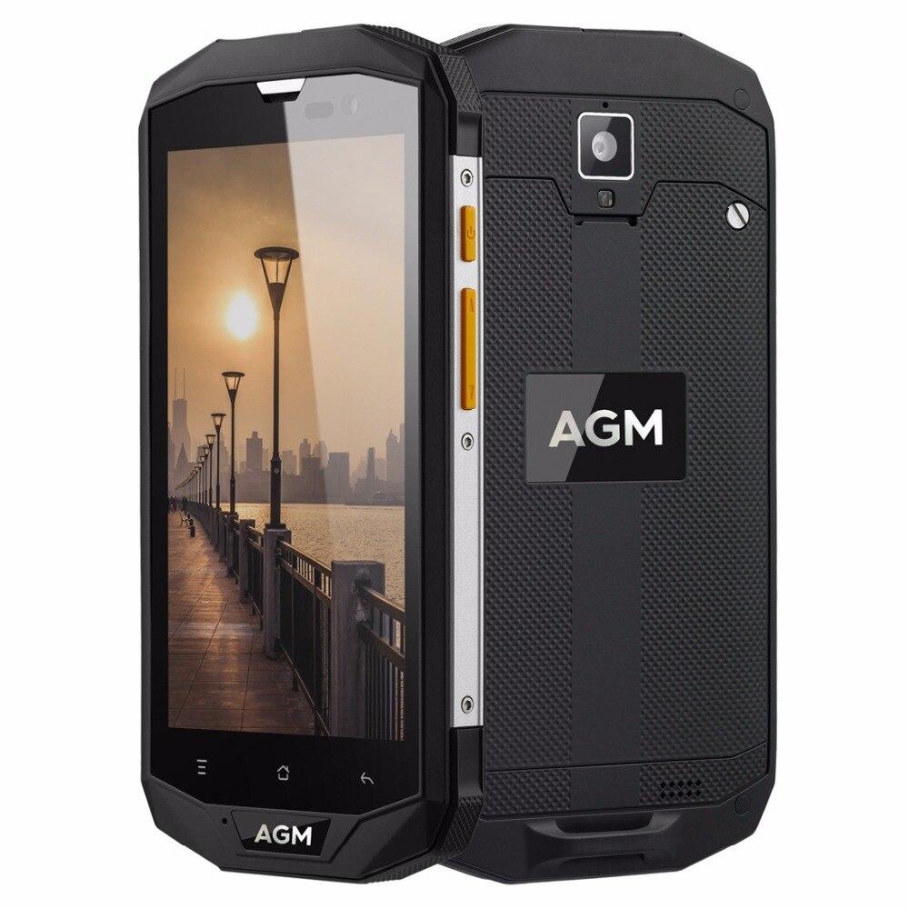 AGM A8 SE Waterproof Phone 5.0 inch Android 7.0 Snapdragon MSM8916 Quad Core 2GB RAM 16GB ROM 13MP OTG 4G Smartphone 4050mAh FM