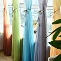 5 gradiente color sólido barato tulle ventana Cortinas para la cocina Sala dormitorio cortina pura gasa organza Hilado cortina