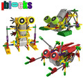 Iblocks criativo diy assemblage motor elétrico robôs models & construção brinquedos hobbies crianças educacionais blocos engrenagem para meninos