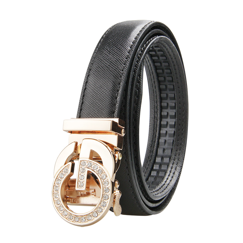 Luxury Design Letter G   Belt   For Women Lady Brass Buckle Genuine Leather G   Belts   Elegant   Belt   Female Cowskin Straps