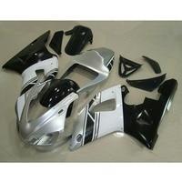 Дешевые Обычай ABS пластик мотоциклов литья под давлением обтекатели комплект для YAMAHA 1998 1999 YZF R1 98 99 серебро черный обтекателя набор