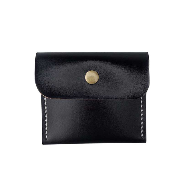 Genuine Leather FBK 100% Handmade Women Change Purse Coin Purses Men Small Wallet Hasp Original Designer Business Card Holder