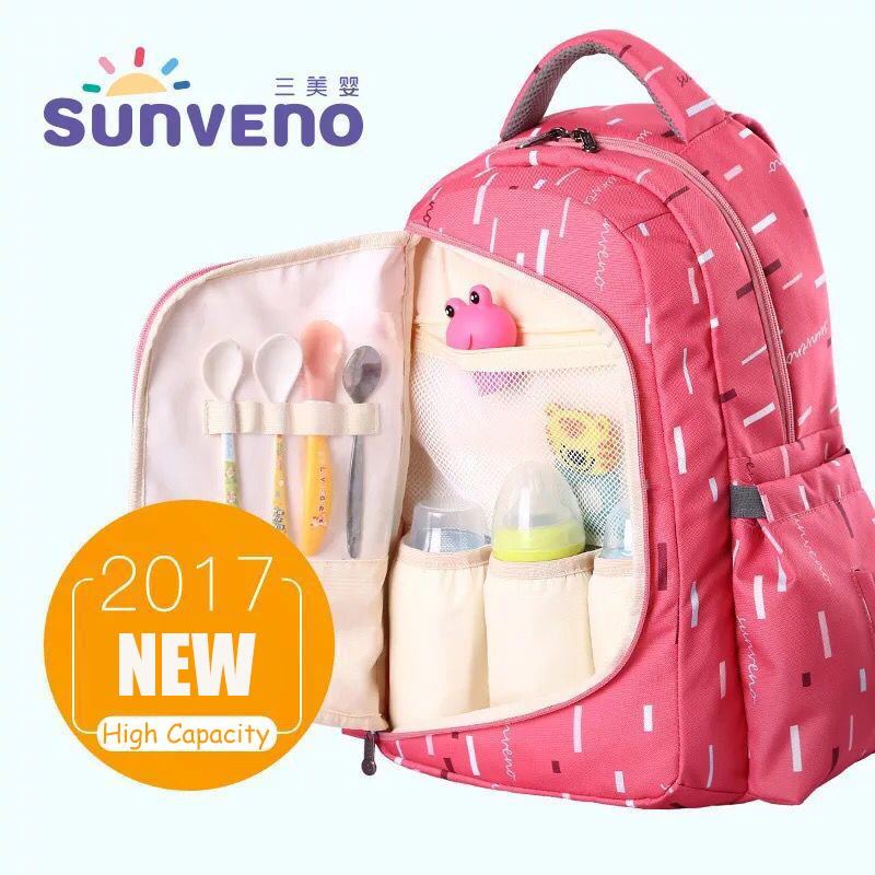 SUNVENO Diaper Bags Maternity Nappy Bag For Mom 20*33*45cm Baby Travel Bag Multifunction Mummy Backpack Organizer Waterproof Bag promotion diaper bags organizer storage mummy bags for mom baby bottle multifunctional