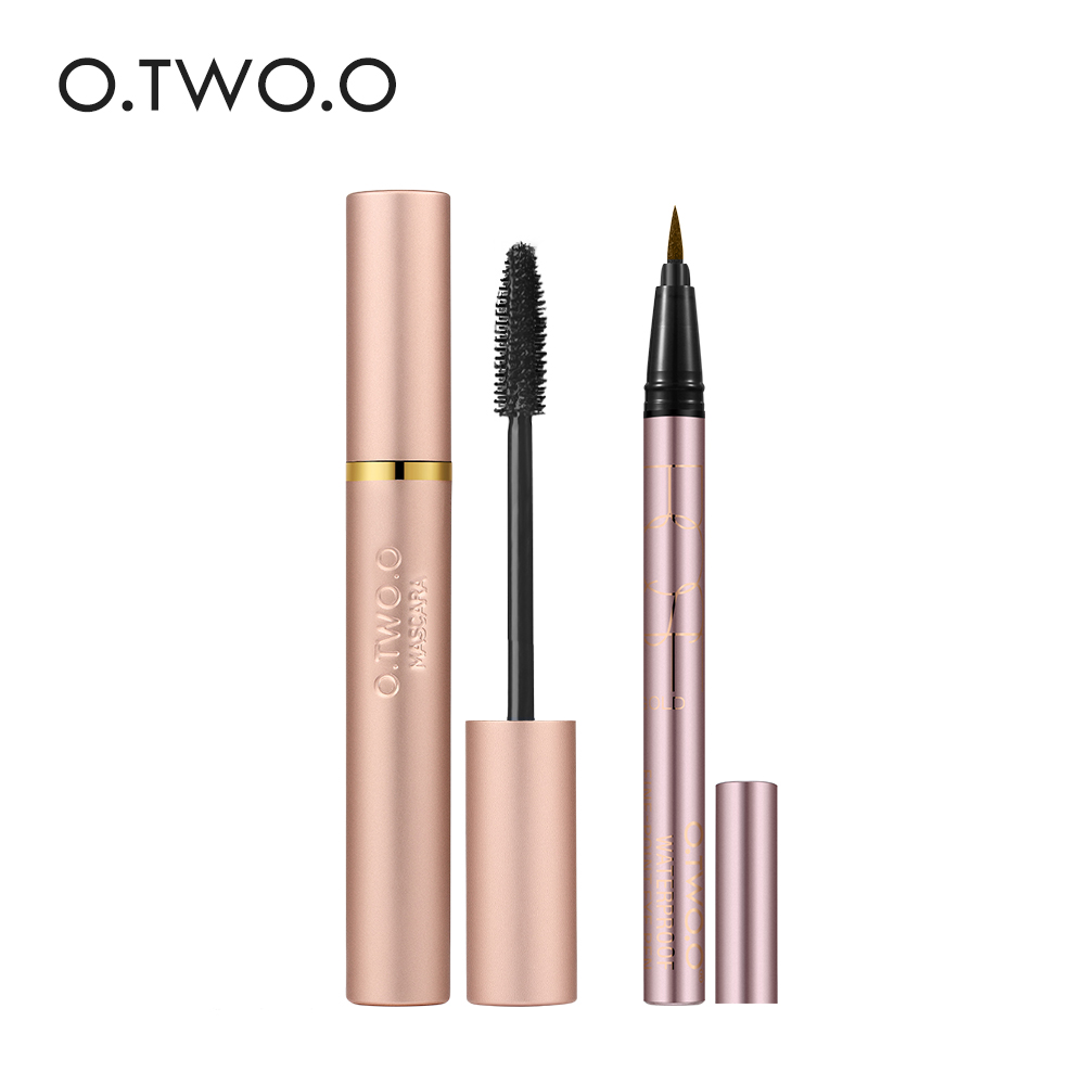 O.TWO.O 2pcs/set Makeup Set Thick Lengthening Mascara+Eyeliner Colorful Waterproof Eyeliner