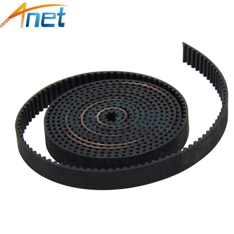 100 Meters GT2 Open Timing Belt Rubber PU Width 6mm Synchronous Opening Belts Part For RepRap 3D Printers Parts 2GT-6mm Black  hictop 5 meters gt2 timing belt for reprap 3d printer prusa i3