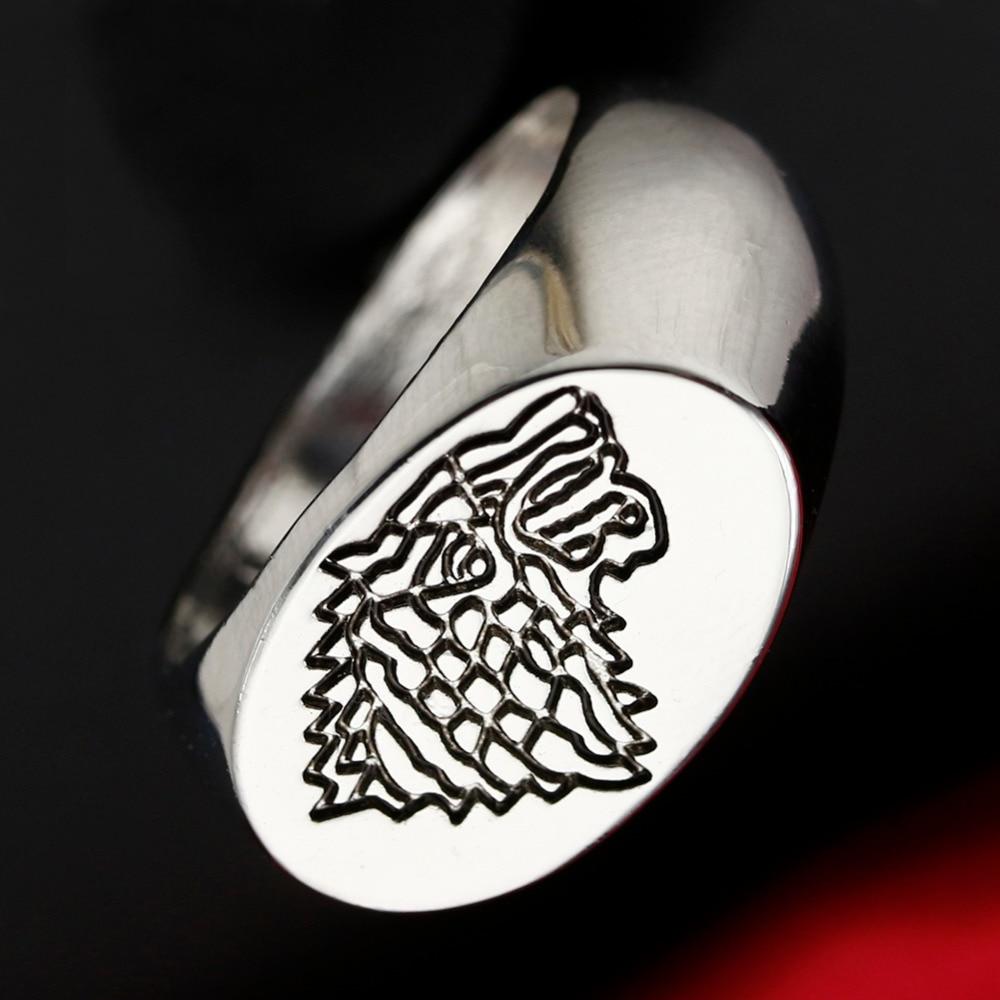 game of thrones ring stark direwolf totem ring men anillos. Black Bedroom Furniture Sets. Home Design Ideas